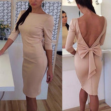 Fashion Bow V-Shaped Evening Dress