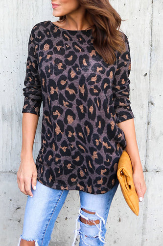 Backless  Leopard Shirts&Blouses - lolabuy
