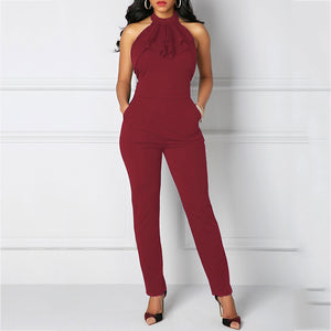 Sexy Bandage Slim Jumpsuit With Pockets