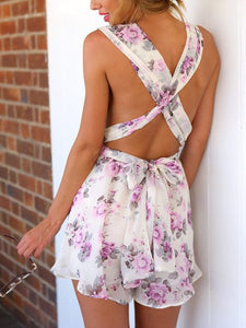 Small Floral Halter Jumpsuit