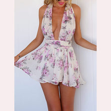 Small Floral Halter Jumpsuit - lolabuy