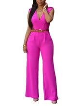 Slim Casual Jumpsuit With Belt - lolabuy
