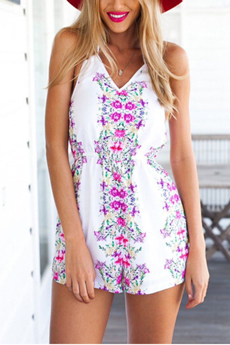 Sexy Halter Printed Jumpsuit - lolabuy