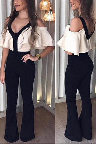Sexy V-Neck Slimming Jumpsuit - lolabuy