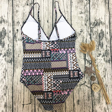 Boho Style Printed One-Piece Swimsuit - lolabuy