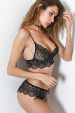 Lace Details Hollow Lace-Up Sexy Lingerie Set - lolabuy