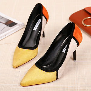 Fashion Spell Color Shallow Mouth High Heels - lolabuy