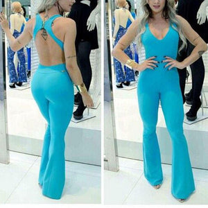Sexy Irregular Package Hip Jumpsuit - lolabuy