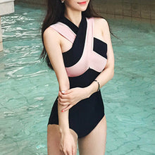 Sexy Cross Straps Off Shoulder One-Piece Swimwear - lolabuy