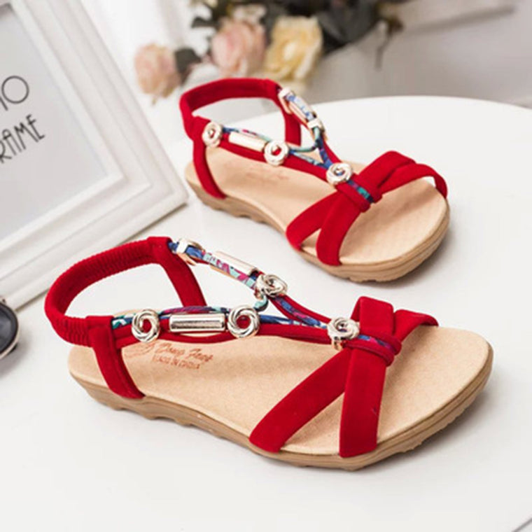 Bohemia Beaded Comfortable Soft Flat Sandals