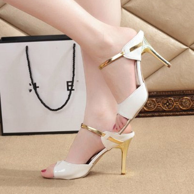 Fashion Fish Mouth Sandals Ladies Shoes