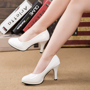 Elegant Slim Heel PU Wedding Party Shoes - lolabuy