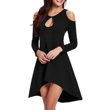 Elegant Hollow Off-Shoulder Strapless Sexy Irregular Skater Dress - lolabuy