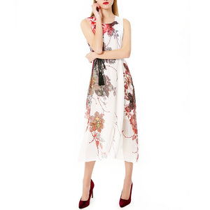Printed Chiffon Sleeveless Slim Sleeveless Vacation Dress - lolabuy
