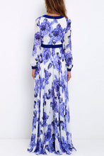 Sexy Deep V Collar Floral Printed Vacation Dress - lolabuy