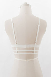 Spaghetti Strap  Hollow Out Plain Bra - lolabuy