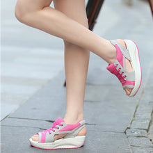 Casual Thick Platform Slope Shoes - lolabuy