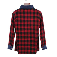 Classic Plaid Denim Spring Blouse - lolabuy