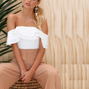 Sexy Plain Off Shoulder Top - lolabuy
