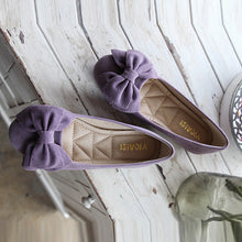 Fashion Pure Color Round Flat Shoes With Bow-Knot - lolabuy
