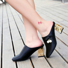 Elegant Sexy Thick Heel Sandals Shoes - lolabuy