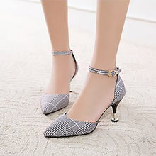 Fashion Retro Lattice Pointed Mueller Shoes - lolabuy