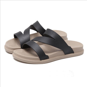 Flat  Peep Toe  Beach Casual Slippers - lolabuy