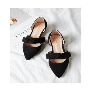 Fashion Pure Color Pointed Shoes - lolabuy
