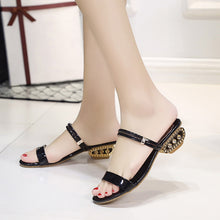 Fashion Pure Color Low-Heeled Sandal - lolabuy