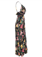 Spaghetti Strap  Side Slit  Printed Maxi Dress - lolabuy