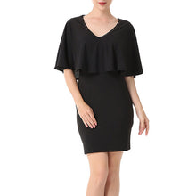 Elegant V-Neck Pure Color Work Dress - lolabuy