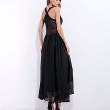 New Strap V-Neck Splicing Maxi Dress - lolabuy