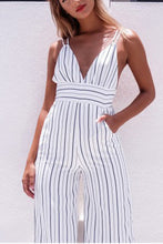 Sexy Deep V Sleeveless Open Back Jumpsuit
