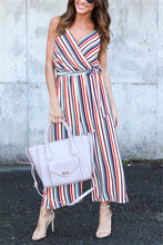Sexy Casual Stripe Sleeveless Jumpsuit - lolabuy