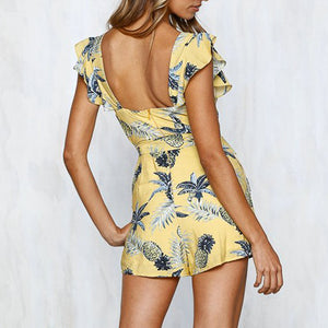 Fashion Vacation Style Printed Jumpsuit - lolabuy