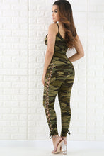 Sexy Camouflage Floral Print Jumpsuits - lolabuy