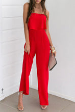 Red Fashion Strapless Sleeveless Jumpsuit - lolabuy