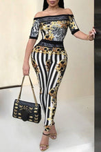 Sexy Print Off Shoulder Jumpsuit - lolabuy