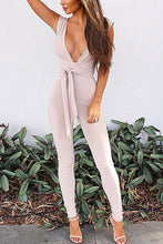 Sexy Casual Deep V Sleeveless Jumpsuit - lolabuy