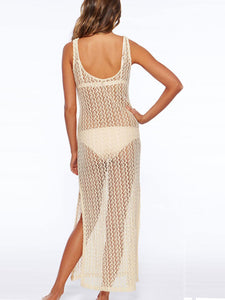 Sling Hollow Out Beach Dress - lolabuy