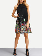 Crew Neck  Printed Shift Dress - lolabuy