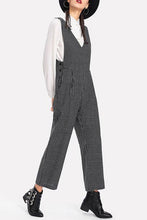 Fashion Checked Jumpsuit - lolabuy