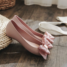 Fashion Pure Color Flat Shoes With Bow-Knot - lolabuy