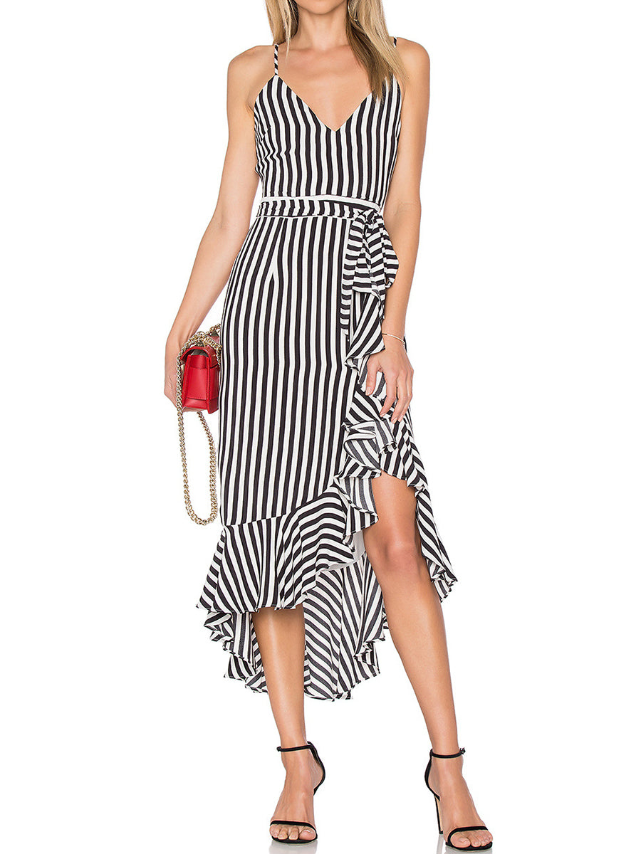 Spaghetti Strap  Printed Maxi Dress - lolabuy