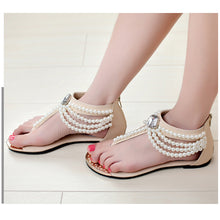 Bohemia Beaded Clip Toe Flat Casual Beach Sandal Shoes - lolabuy