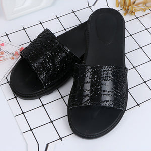 Fashion Sequins Pure Color Flat Shoes - lolabuy