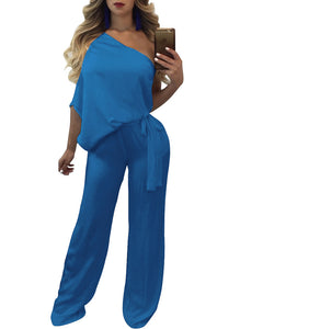 Sexy Plain Loose Jumpsuit - lolabuy