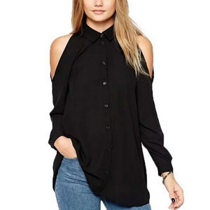 Fashion Strapless Chiffon Shirt - lolabuy
