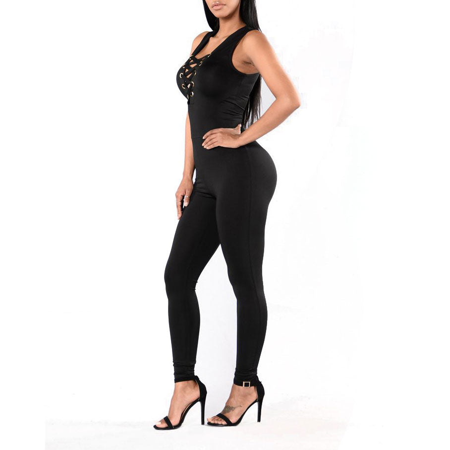 Split Joint Slimming Jumpsuit - lolabuy