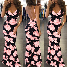 Sexy Floral Printed Maxi Dress - lolabuy